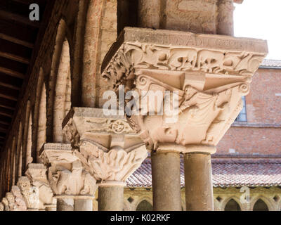 Abbaye Saint-Pierre, Moissac - Stock Photo