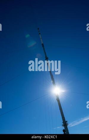 Winter Hill telecommunication transmitter mast, Lancashire Moorland, Bolton - Stock Photo