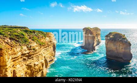The Razorback, scenic coastal view of Great Ocean Road, Victoria, Australia - Stock Photo