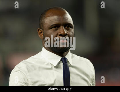 Head coach Patrick Vieira of NYC FC attends regular MLS game against New England Revolution on Yankee stadium NYC - Stock Photo