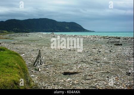 Torere Beach Bay of Plenty, New Zealand - Stock Photo