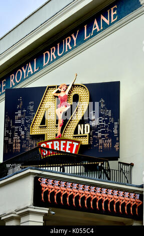London, England, UK. '42nd Street' at the Theatre Royal Drury Lane (Aug 2017) - Stock Photo