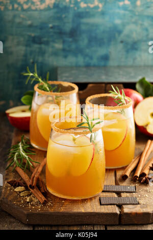 Hard apple cider cocktail with fall spices - Stock Photo