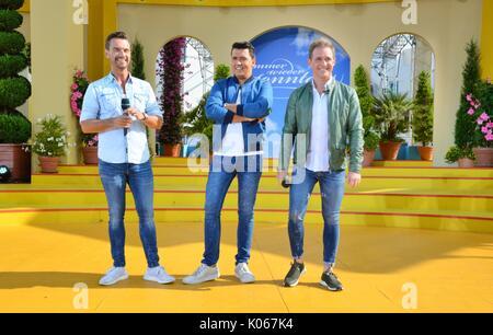 Rust, Germany, 20th August, 2017, Das Erste ARD TV Show 'Immer wieder Sonntags' Featuring Klubb3 Credit: mediensegel/Alamy - Stock Photo
