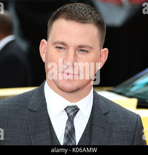 London, UK. 21st Aug, 2017. Channing Tatum, Logan Lucky - UK Film Premiere, Leicester Square, London UK, 21 August - Stock Photo
