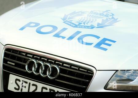 Uk Police Car Bonnet Stock Photo Royalty Free Image 22657742 Alamy