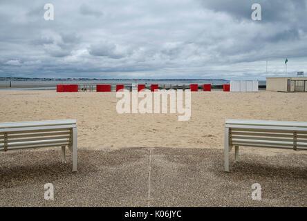 the beach  le pouliguen loire-atlantique france - Stock Photo