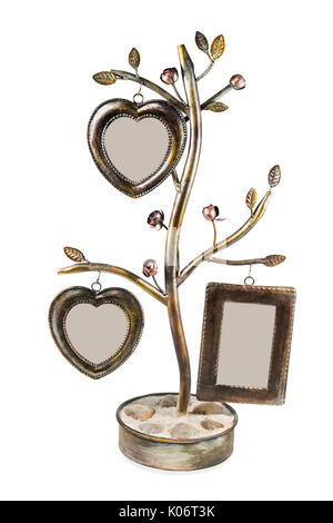 Instant photo frames with heart on the wooden background Stock ...