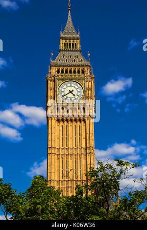 The Big Ben clock tower in London, UK. - Stock Photo