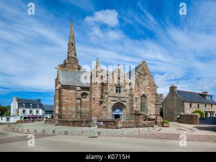 France, Brittany, Cotes d'Armor department, Perros-Guirec, Chapelle Notre Dame de la Clarté, Chapel of our Lady - Stock Photo