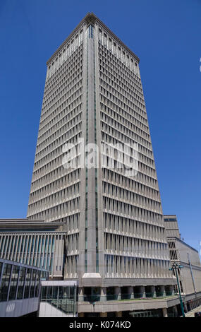 Yamagata, Japan - May 19, 2017. A modern building located at downtown in Yamagata, Japan. Yamagata Prefecture has, - Stock Photo