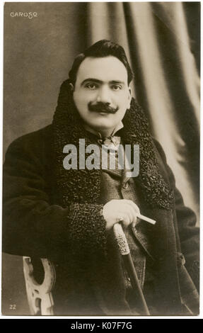 Enrico Caruso ((1873 - 1921), Italian operatic tenor.      Date: - Stock Photo