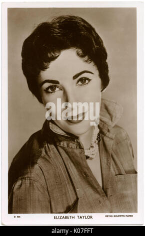 Elizabeth Taylor (1932 - 2011), British-born actress,  star of numerous American films      Date: - Stock Photo
