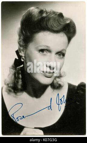 Rosamund John (Nora R Jones) (1913  1998), British actress of stage and screen      Date: - Stock Photo