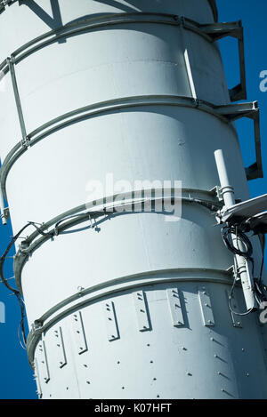 Radio and TV transmitter masts, Winter Hill, Lancashire - Stock Photo