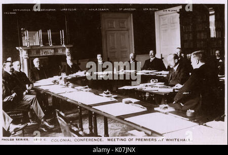 The Imperial Conference of 1907 - convened in London on 15th April 1907 as the 'Colonial Conference' , concluding - Stock Photo