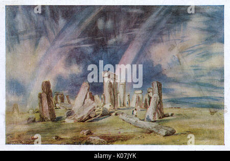 Stonehenge, Wiltshire - painted by John Constable (1776-1837) - bequeathed to the V&A by Miss Isabel Constable. - Stock Photo