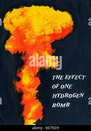 The Effects of  a Hydrogen Bomb dropped on Manchester - cover of the booklet.     Date: 1956 - Stock Photo