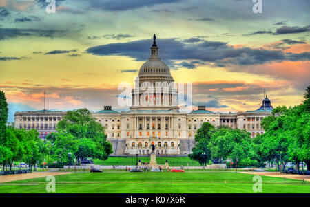 The United States Capitol Building in Washington, DC - Stock Photo