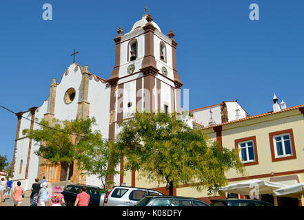 Tourists visiting Silves historical Cathedral in the Algarve - Stock Photo