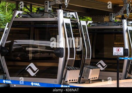 Gondola liift in Vail Ski Resort, Vail, CO, United States - Stock Photo