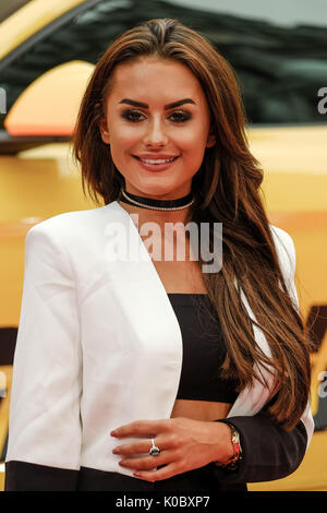 Amber Davies at LOGAN LUCKY UK Premiere on Monday 21 August 2017 held at VUE West End, Leicester Square, London. - Stock Photo