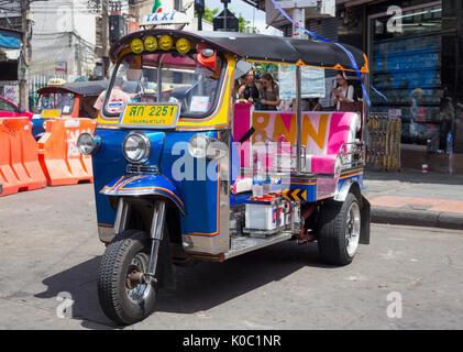 Tuk Tuk on Khao San Road, Bangkok - Stock Photo