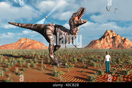 Prehistoric Hologram - Stock Photo