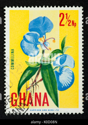 Ghana postage stamp - Stock Photo