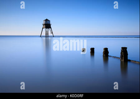 A long exposure photograph of a victorian lighthouse in Dovercourt, Harwich, Suffolk, UK. - Stock Photo