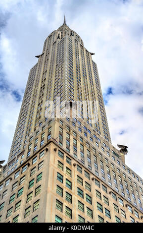 The Chrysler Building, an Art Deco-style skyscraper in Manhattan. Built in 1930 - Stock Photo