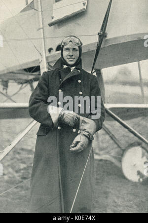 National Hero pilot ace John Warneford VC - Stock Photo