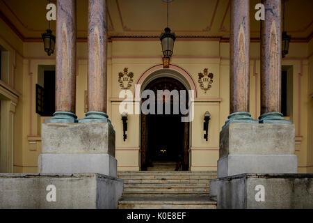 CAMARA DE REPRESENTANTES (HOUSE OF REPRESENTATIVES), CALLE DE LOS OFICIOS,  capital Havana in Cuba, - Stock Photo