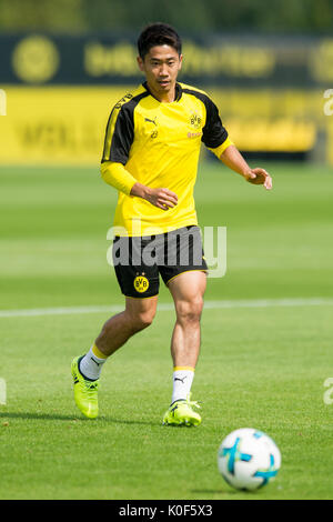 Shinji KAGAWA (DO) mit Ball, Einzelaktion mit Ball, Aktion,  Fussball 1. Bundesliga, Training, Borussia Dortmund - Stock Photo