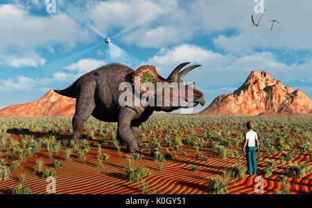 Prehistoric Hologram - Stock Photo