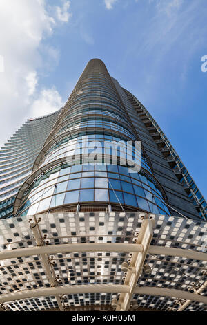 UniCredit Tower in the Porta Nuova District, Milan, Italy. Designed by the architect Cesar Pelli the skyscraper - Stock Photo