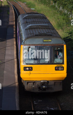 Northern Rail pacer train at Kirkham & Wesham working the 1821 Colne - Blackpool South - Stock Photo