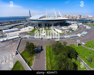 St Petersburg Russia Circa Aug 2017 New Building Of