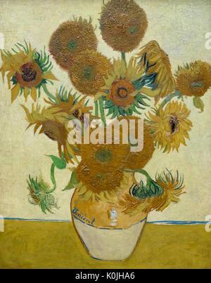 Sunflowers, 1888 - Vincent Van Gogh - Stock Photo