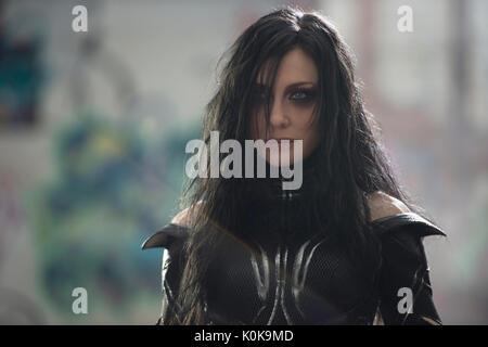 RELEASE DATE: November 3, 2017 TITLE: Thor: Ragnarok STUDIO: Marvel DIRECTOR: Taika Waititi PLOT: Thor must face - Stock Photo