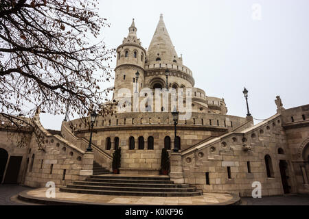 Fisherman Bastion, Budapest, Hungary, Europe. - Stock Photo