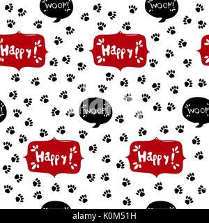 background animal footprints vector illustration - Stock Photo