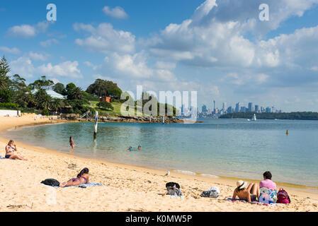 Camp Cove beach, Watsons Bay, Sydney, New South Wales, Australia. - Stock Photo