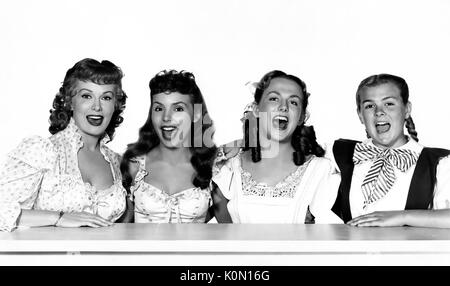 THOSE REDHEADS FROM SEATTLE 1953 Paramoiunt film with from left: Rhonda Fleming, Teresa Brewer, Jean Parker, Agnes - Stock Photo