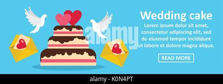 Wedding cake banner horizontal concept - Stock Photo