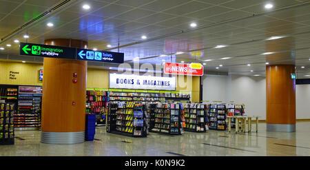 Yangon, Myanmar - Feb 14, 2017. Book Store at Departure Hall of Yangon Airport in Myanmar. Yangon Airport is the - Stock Photo