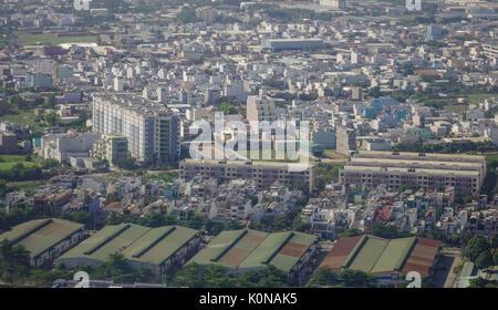 Yangon, Myanmar - Feb 14, 2017. Modern buildings rising in Yangon, Myanmar. The city area has steadily increased - Stock Photo