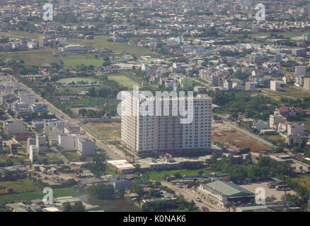 Yangon, Myanmar - Feb 14, 2017. Modern buildings rising in Yangon, Myanmar. Yangon is the country largest city with - Stock Photo
