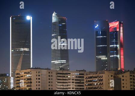 Financial District skyline Madrid, Spain. - Stock Photo