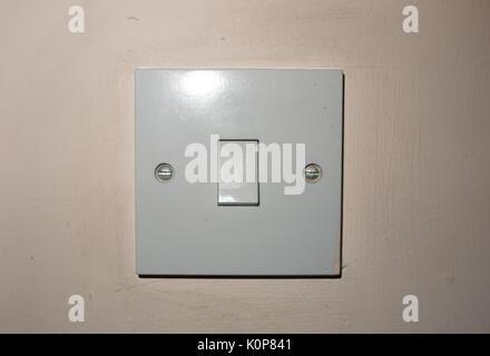 Close Up Isolated White Bedroom Light Switch Turned Off England UK